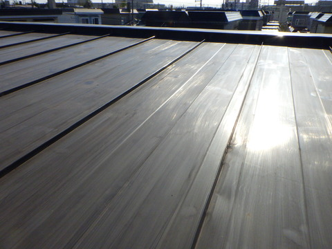 屋根全面を研磨します