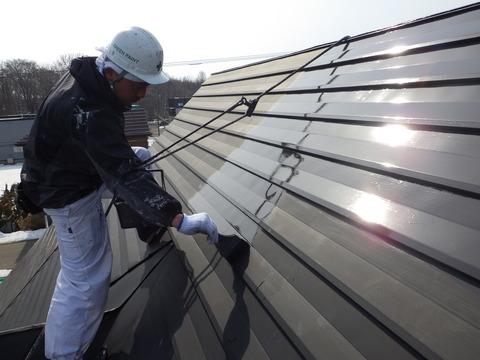 花川住宅の屋根勾配はかなりのものでした