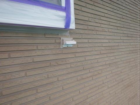 窓下水切りも少し下げて復旧します