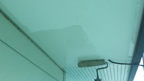 軒天井浸透固着シーラー塗装