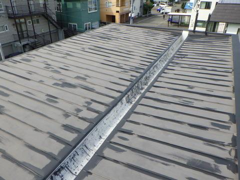 屋根も程度が良かったので錆止めタッチアップです