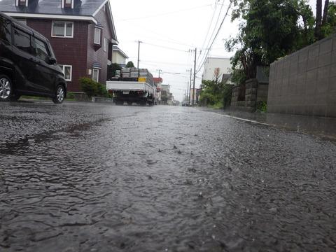 激しい雨でした^^