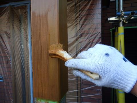 木材防腐塗料塗装3回目