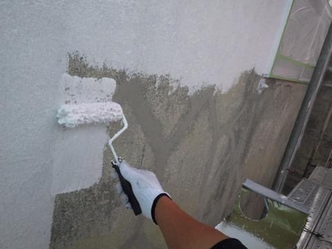 下塗りシーラー後のフィラー塗装