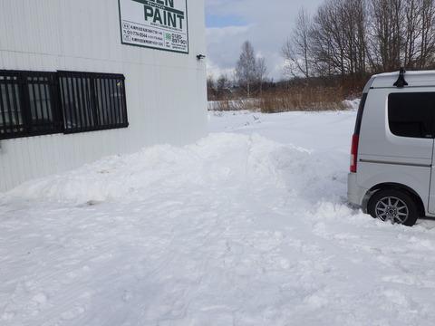 雪も積もりました