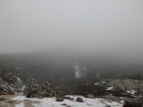 山頂方面の雲行きが怪しい・・・