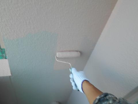 上塗りは指定色で塗装