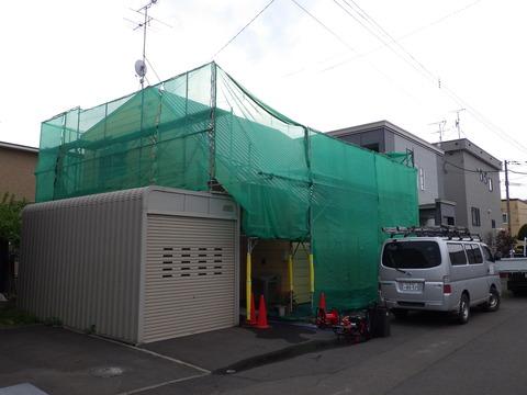 花川住宅足場仮設完了