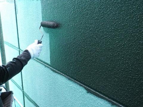 中塗り塗装、濃色使用