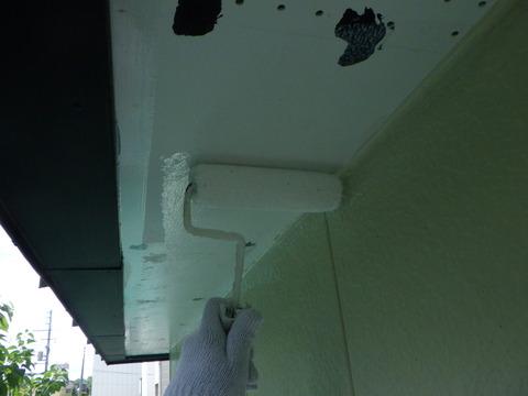 軒天井下塗り浸透性シーラー塗装