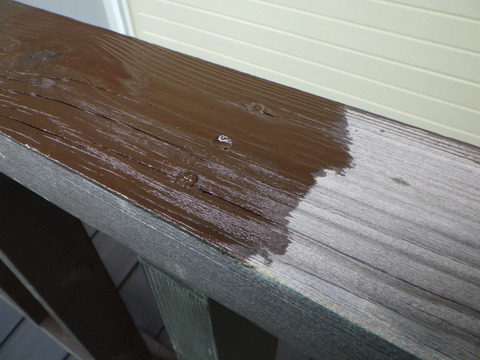 木材専用保護塗料1回目