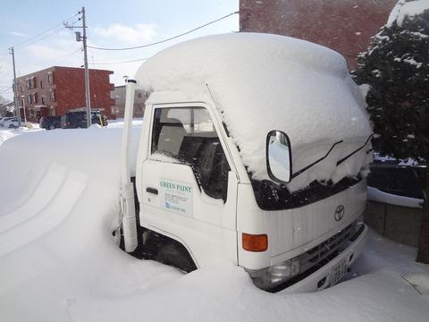 以前のトラックは雪没?していました