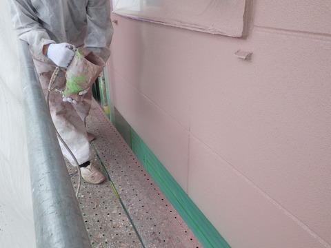 リシン吹き付け塗装