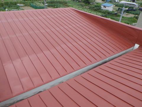 赤さび色サビ止め塗装完了