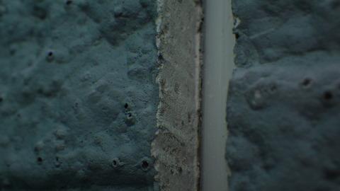 シーリング撤去断面の接写