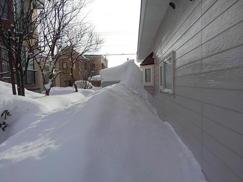 去年も除雪で伺いました