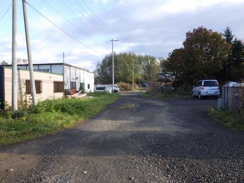 グリーンペイント資材倉庫入口です