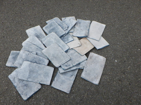 当現場で使用した研磨紙