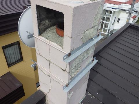 腐食箇所の水勾配上方には煙突がある?
