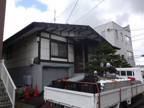 北海道にはめずらしい住宅