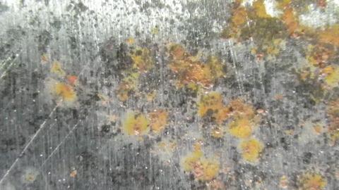 表面に薄い赤錆が発生しています