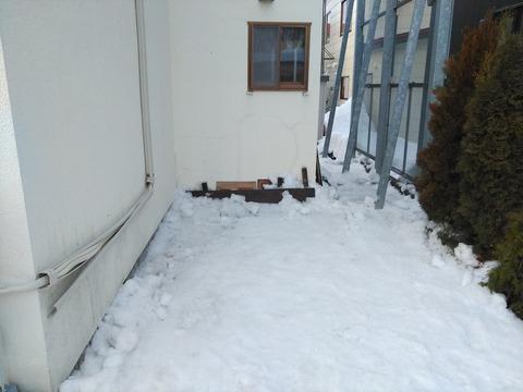4時間ほどでスッキリ雪を移動しました