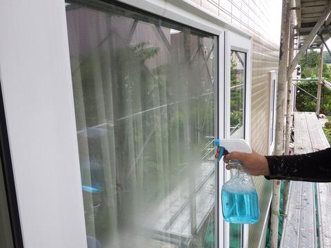 工事完了に合わせて窓のクリーニングも