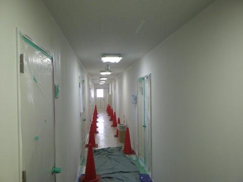 廊下作業状況