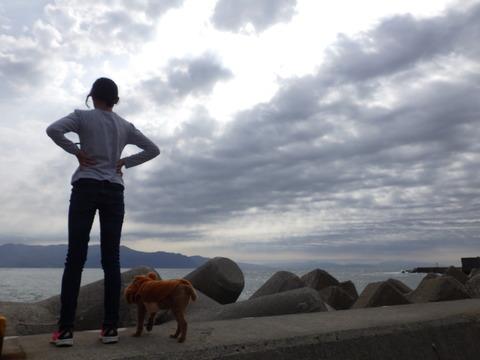 娘と愛犬と
