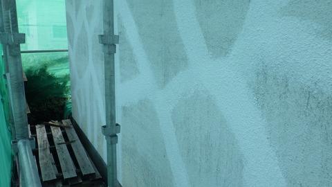 外壁クラック刷込み補修