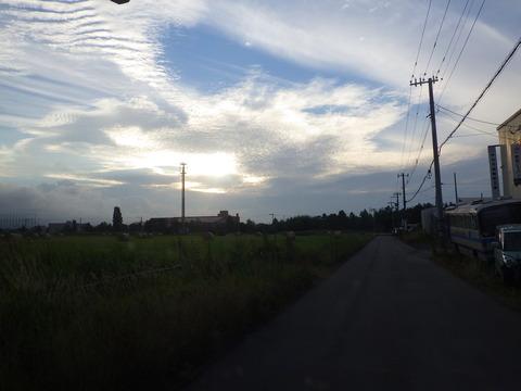 倉庫への帰り道