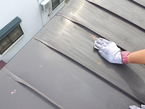 いつものように屋根全面研磨処理