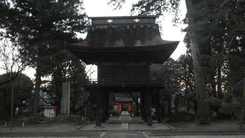 ここが快川和尚の山門を復旧したものです