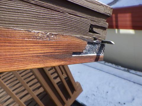 木部用クリヤー塗料塗装後