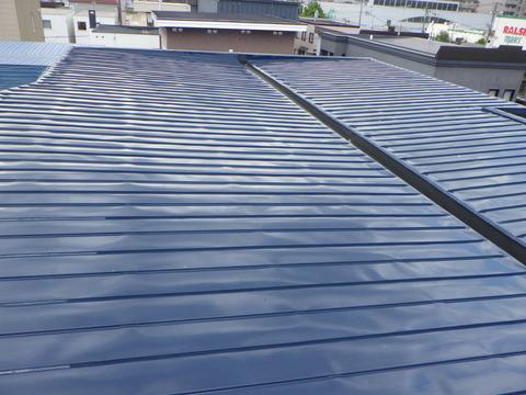 屋根ハイソリッドシリコン塗装仕上げ