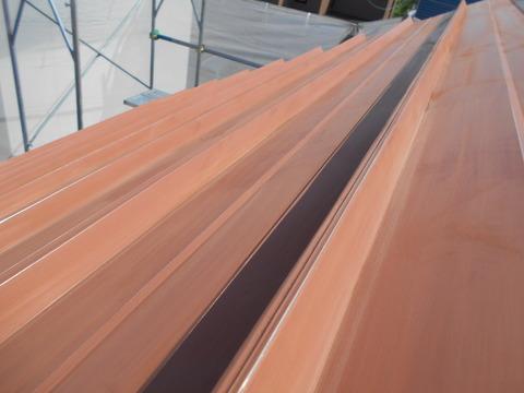 屋根研磨処理完了