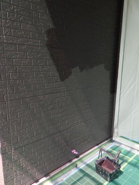玄関廻り壁中塗り後の上塗り
