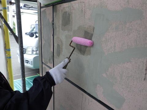 補修箇所の密着性向上シーラー塗装