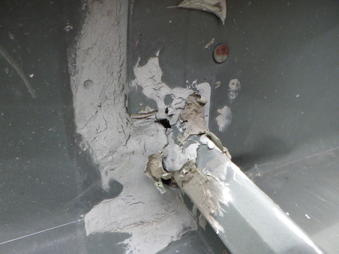 漏水の可能性があるシール断裂です