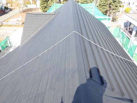 屋根錆止め塗装完了