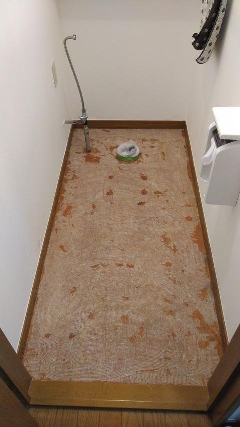 床材を剥がします