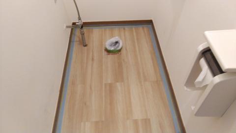 新しい床材の端末処理