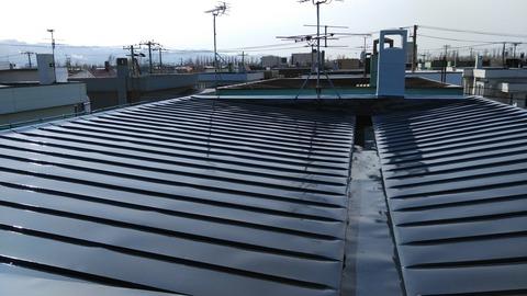 屋根2液シリコン仕上げ