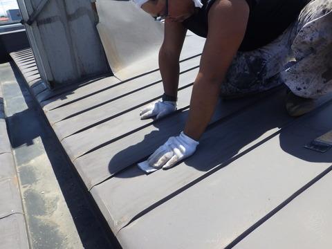 屋根全面に研磨処理