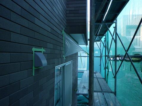 外壁3面はタイル張り製仕上げになっている