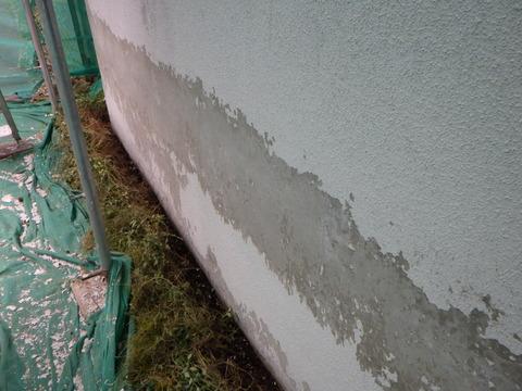 基礎の塗装がかなり剥がれました