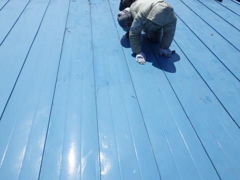 塗装前には全面研磨します!