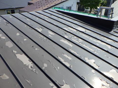 屋根がとんでもないくらいに剥がれている!?