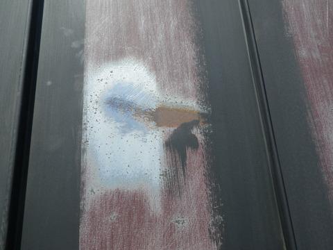 屋根トタンの研磨箇所