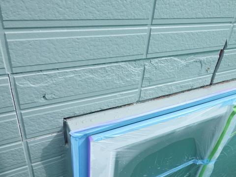 厚別東住宅は各所にサイディング板劣化がある